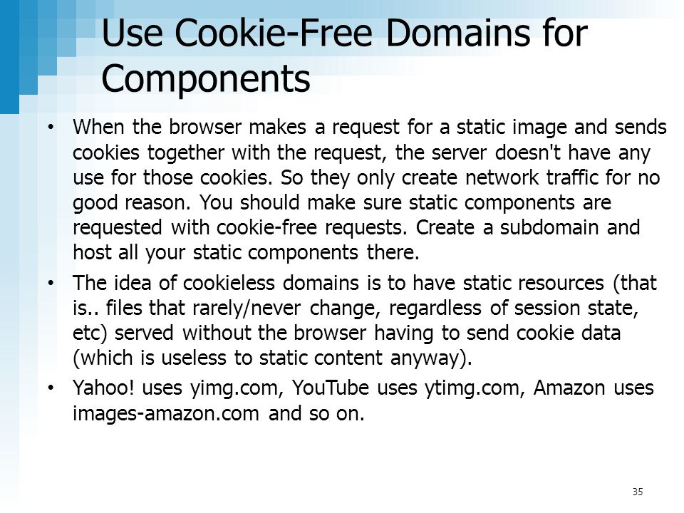 Use Cookie-Free Domains for Components