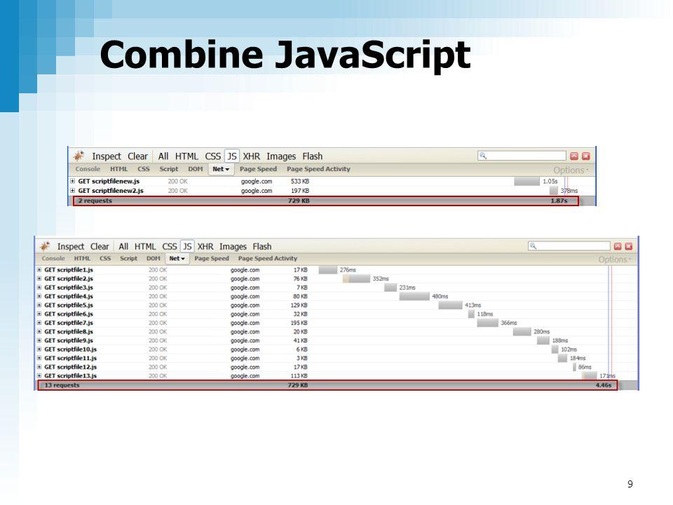 Combine JavaScript