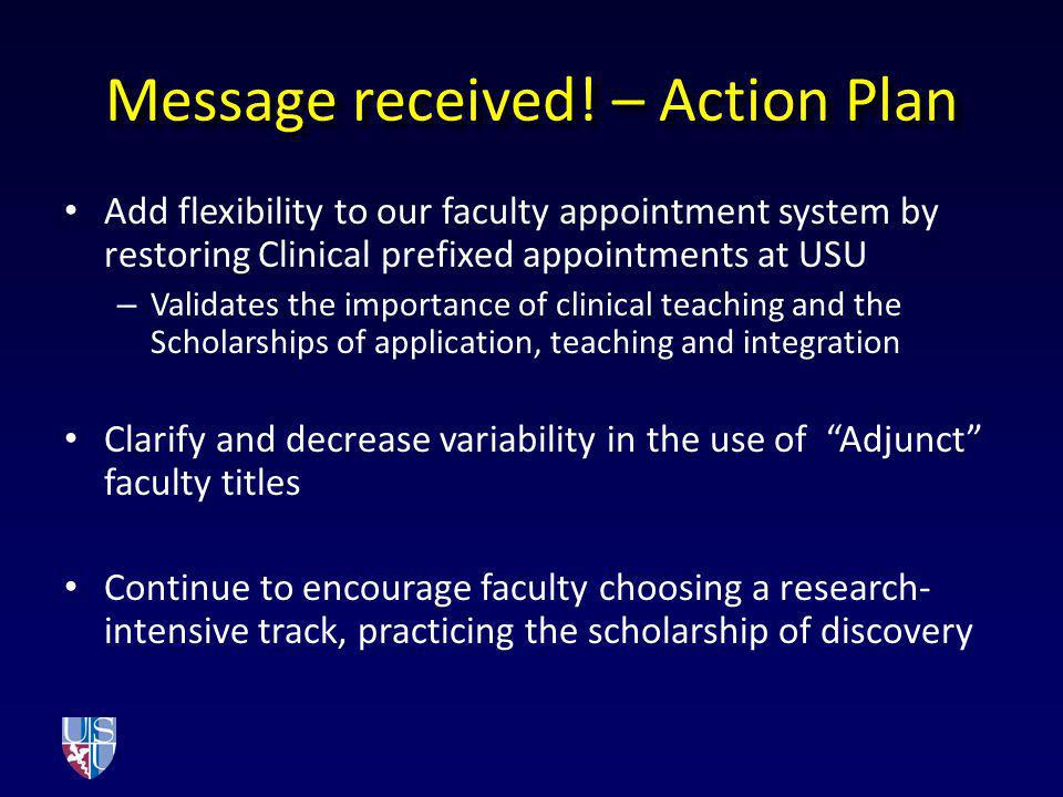 Message received! – Action Plan