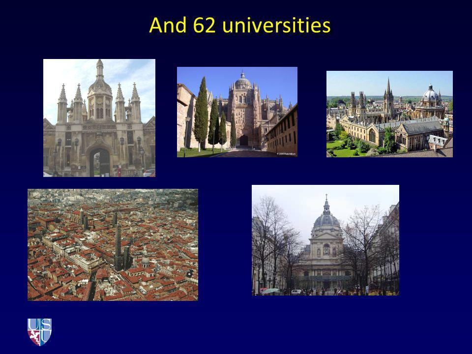 And 62 universities