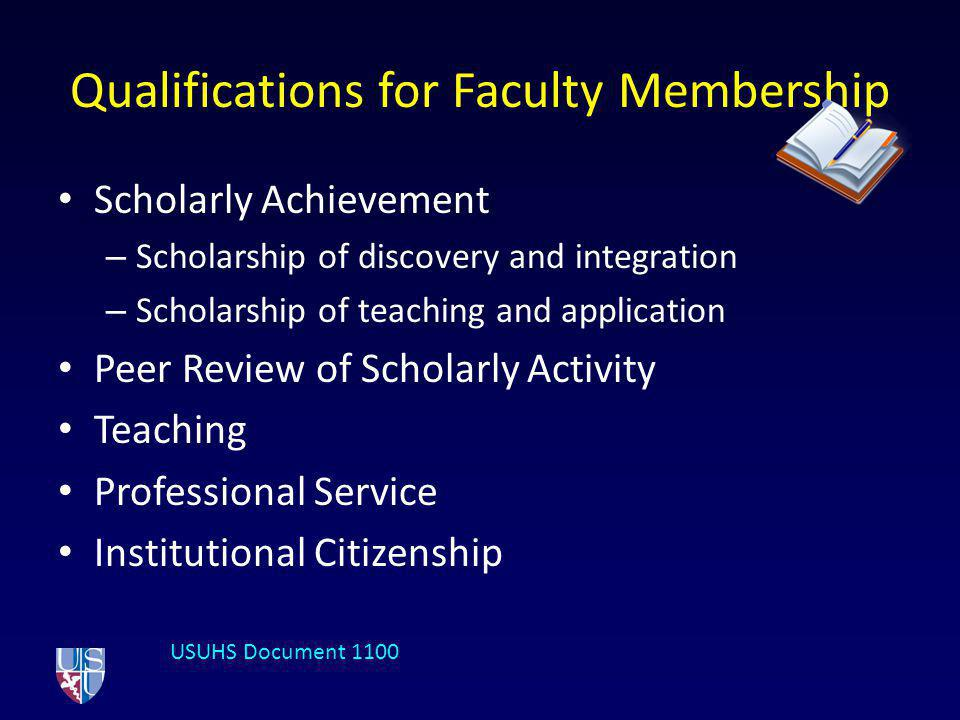 Qualifications for Faculty Membership