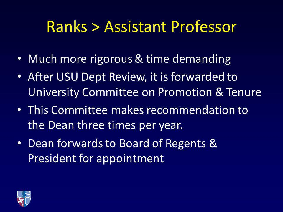 Ranks > Assistant Professor