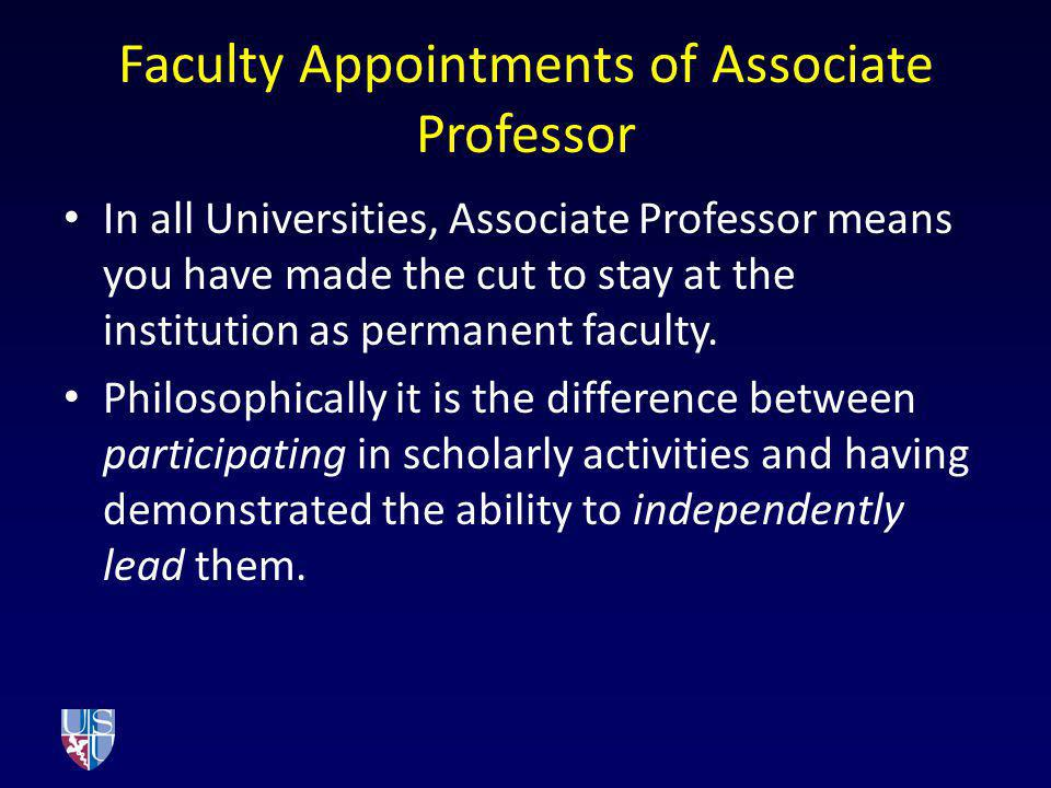 Faculty Appointments of Associate Professor