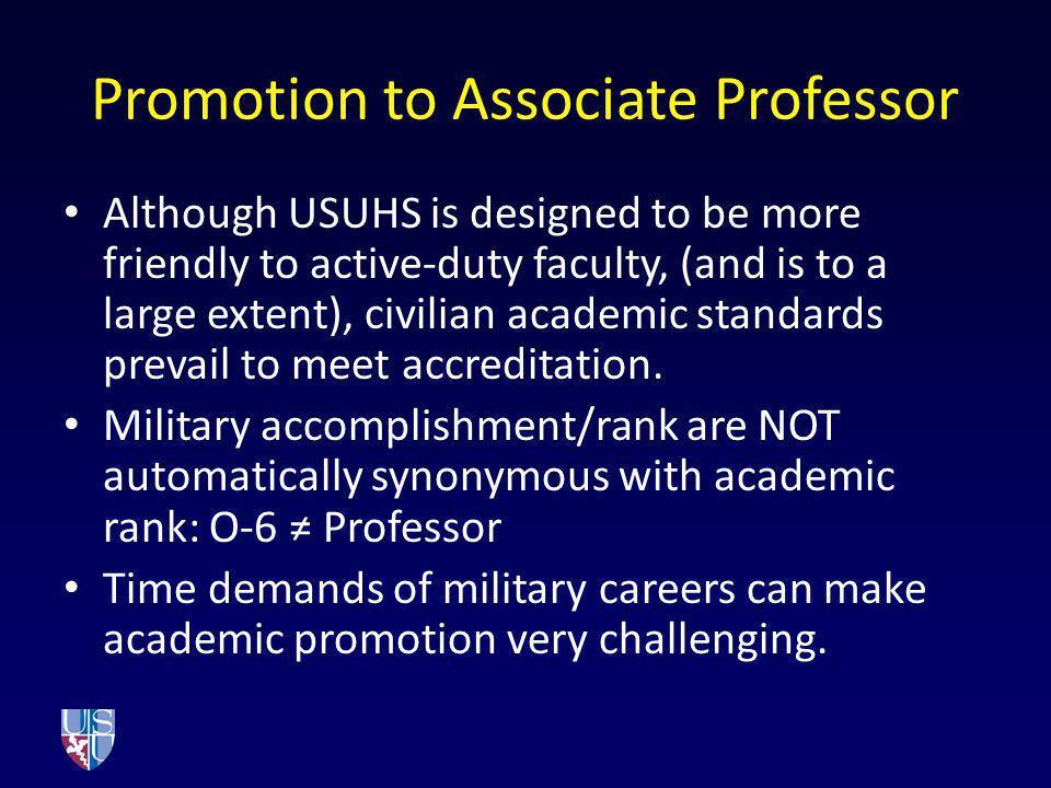 Promotion to Associate Professor