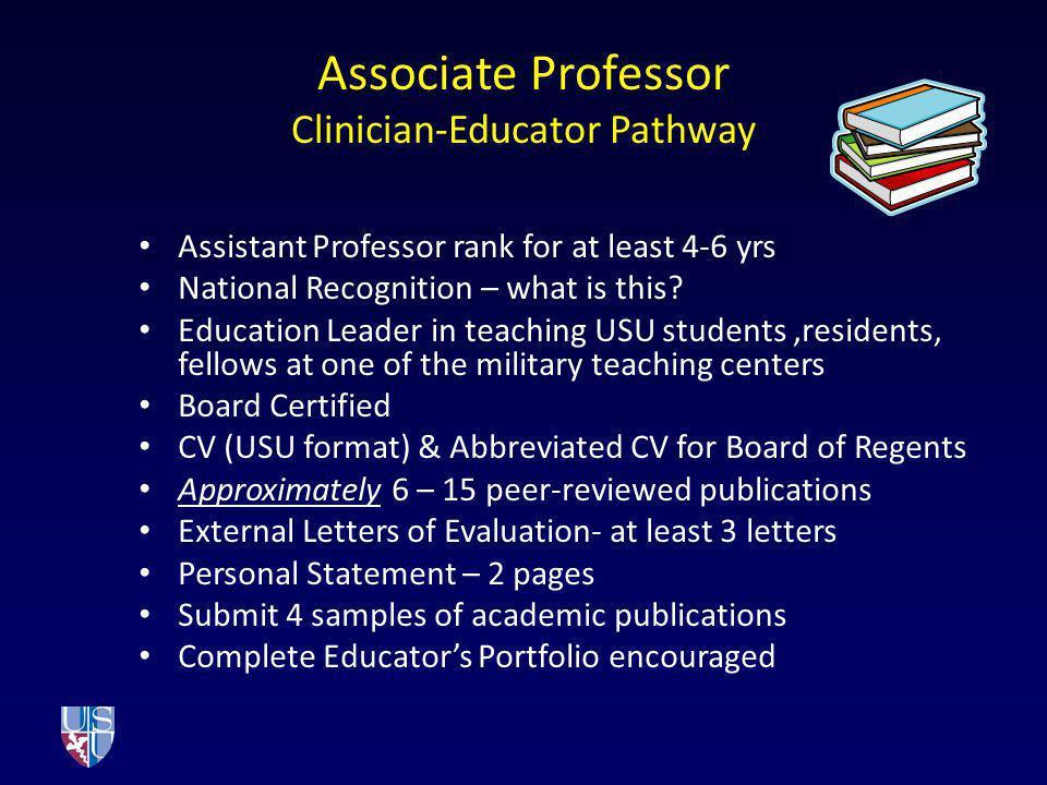 Associate Professor Clinician-Educator Pathway