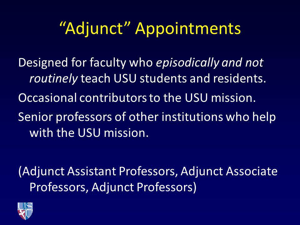Adjunct Appointments