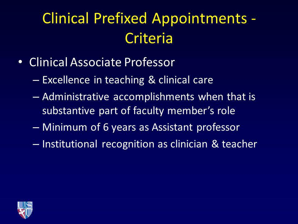 Clinical Prefixed Appointments - Criteria