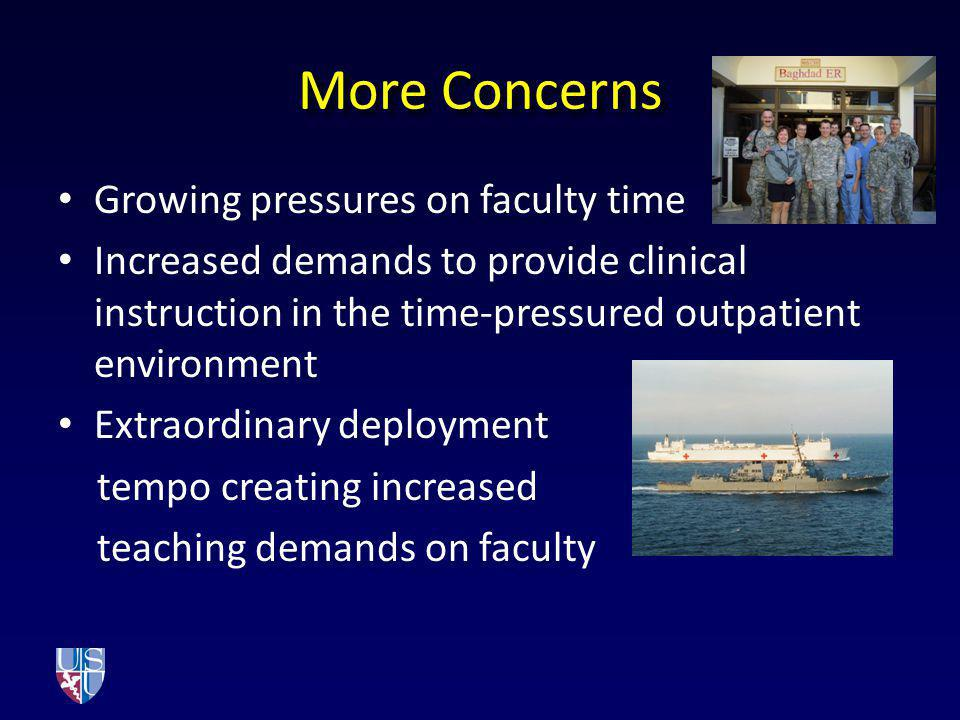 More Concerns Growing pressures on faculty time