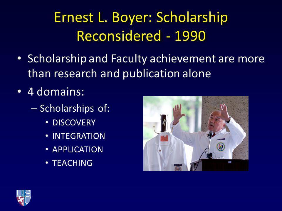 Ernest L. Boyer: Scholarship Reconsidered - 1990