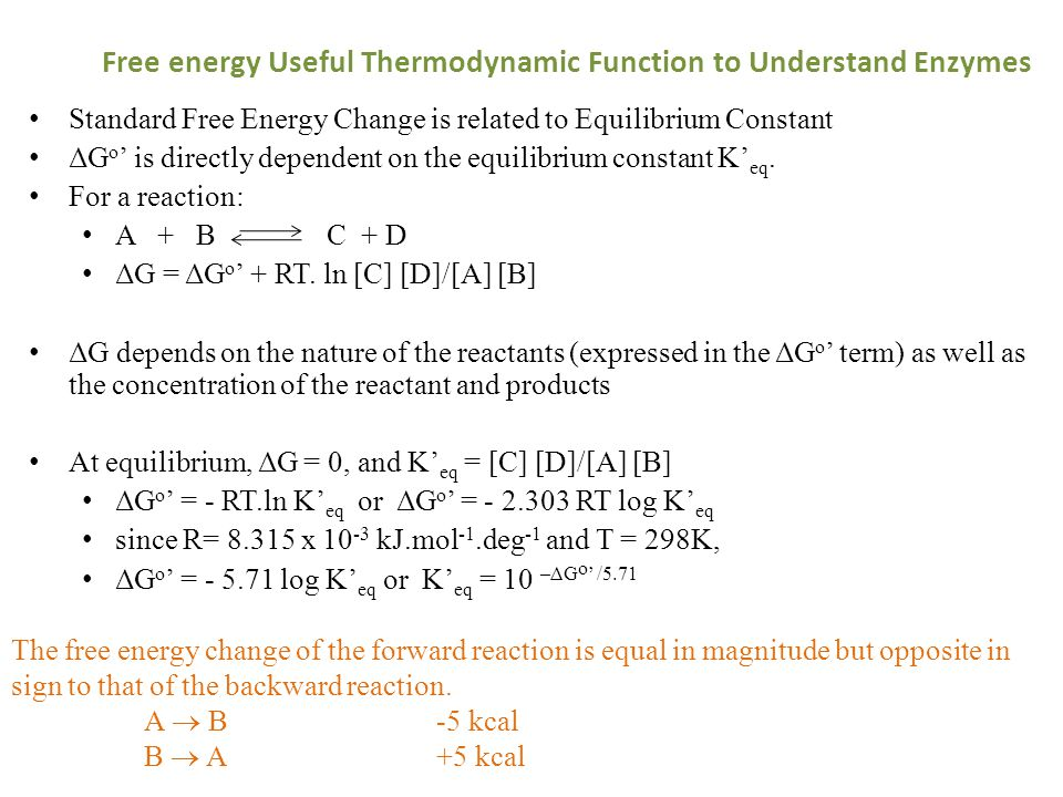Free energy Useful Thermodynamic Function to Understand Enzymes