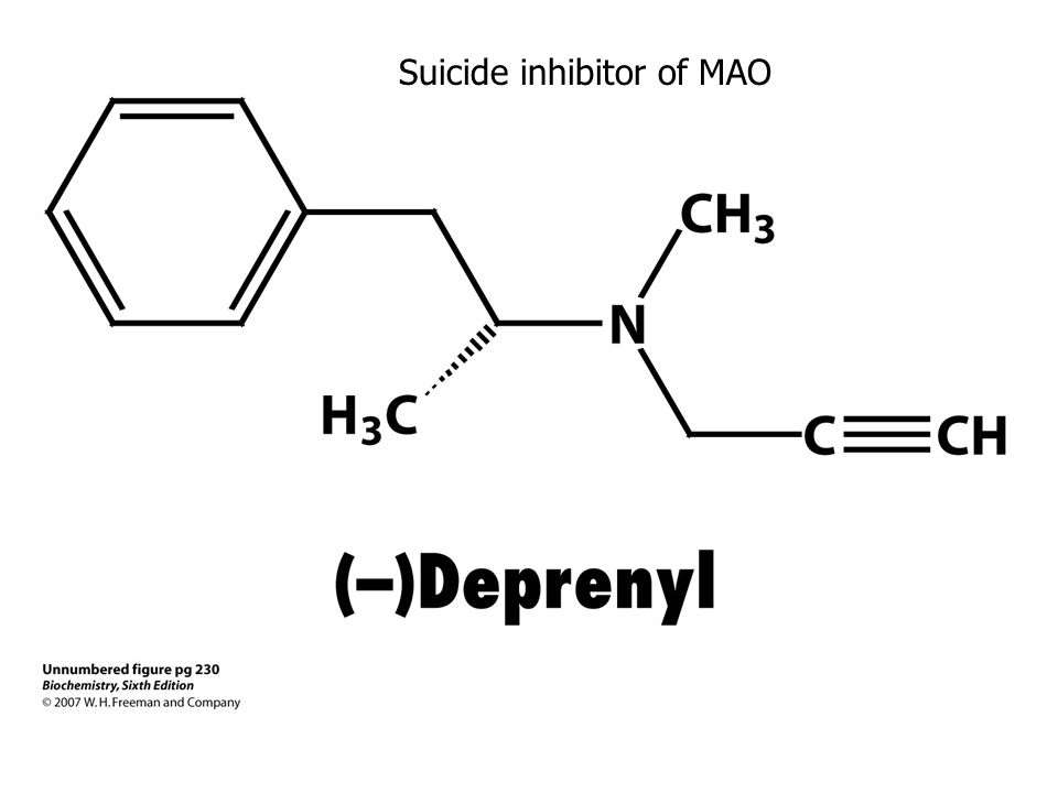 Suicide inhibitor of MAO