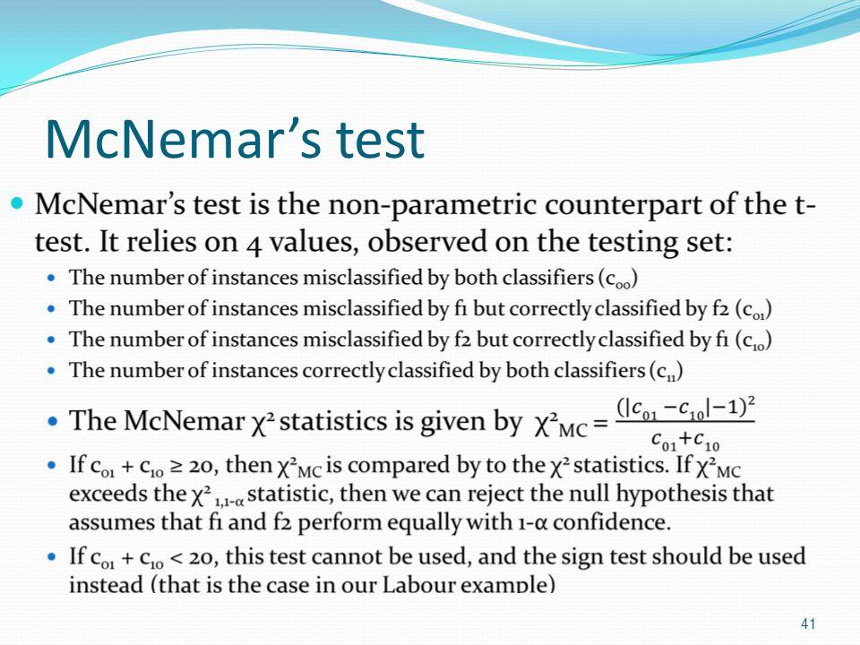 McNemar's test