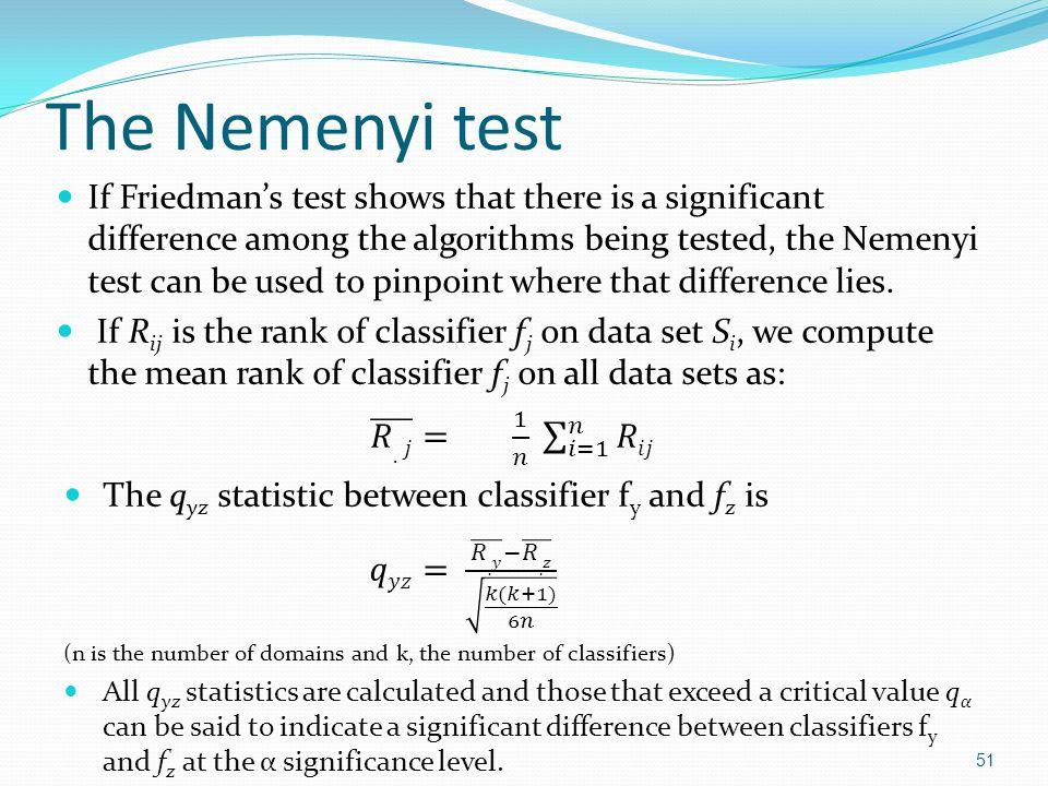 The Nemenyi test