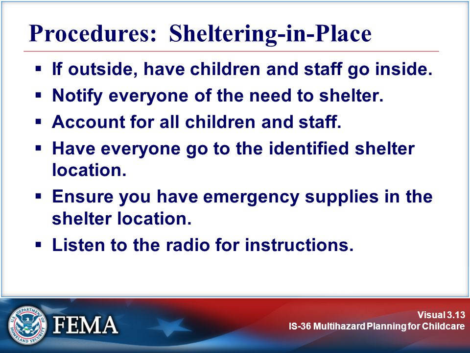 Procedures: Sheltering-in-Place