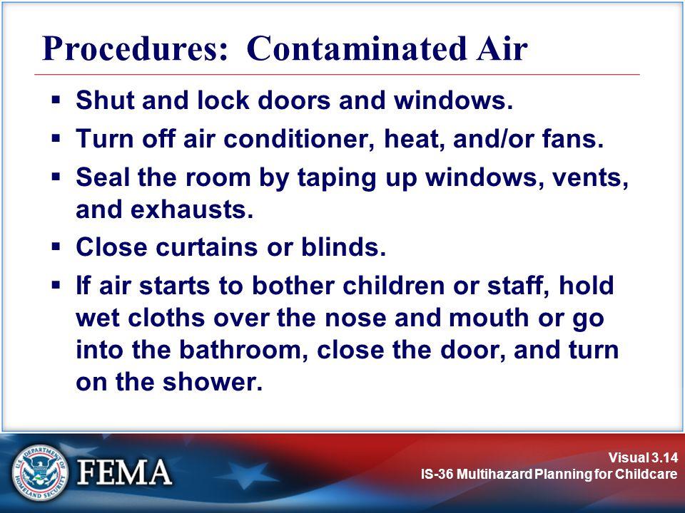 Procedures: Contaminated Air