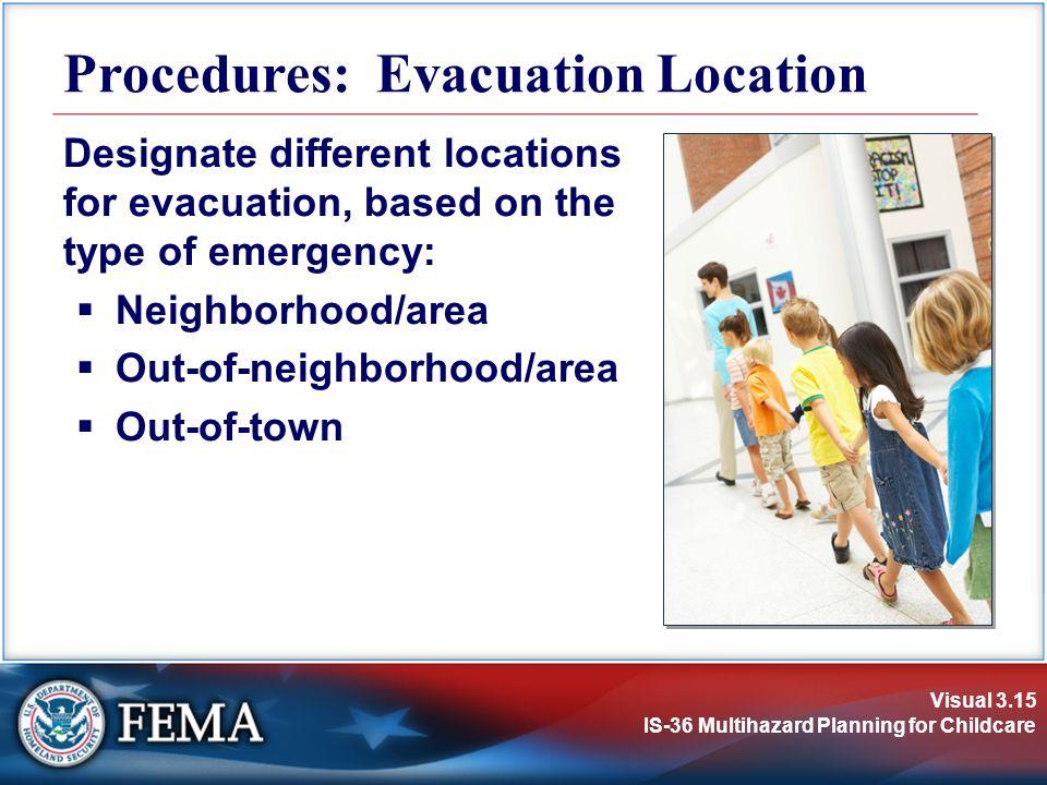 Procedures: Evacuation Location