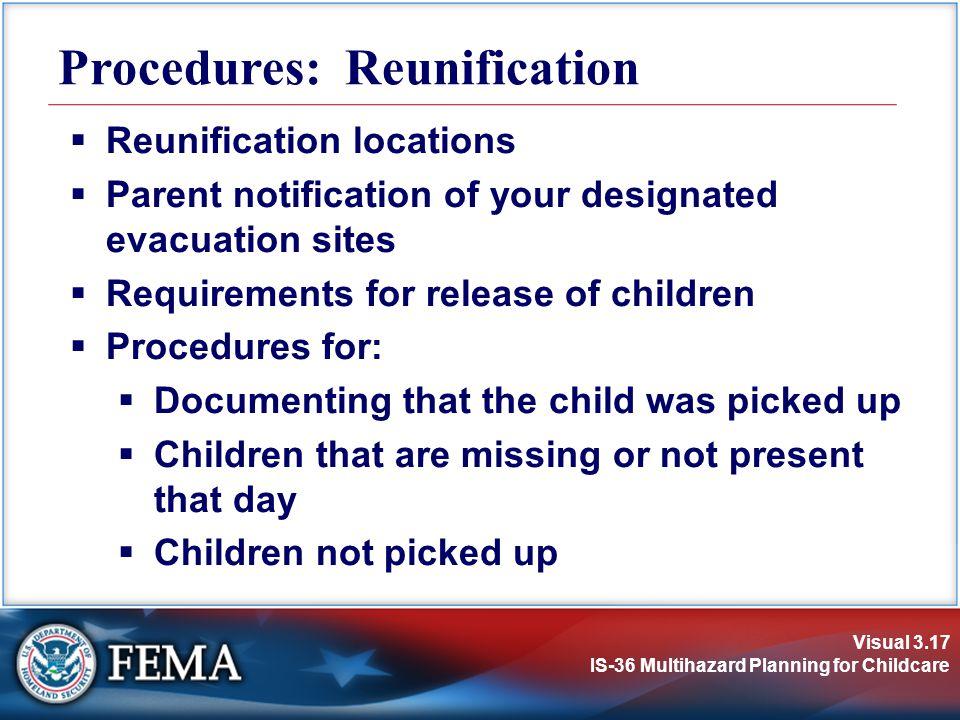 Procedures: Reunification