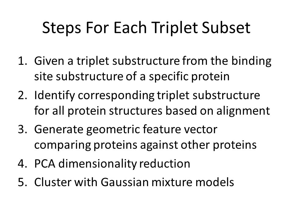 Steps For Each Triplet Subset