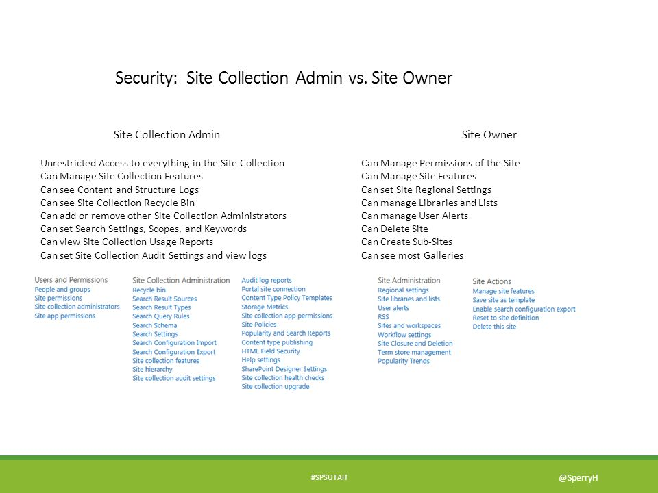 Security: Site Collection Admin vs. Site Owner