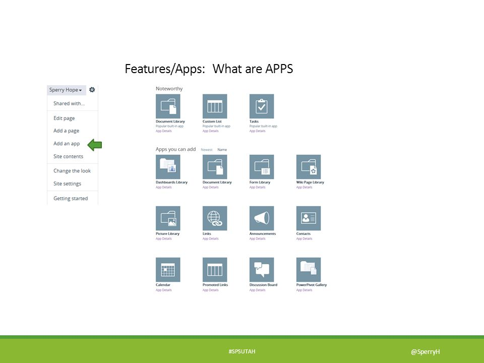 Features/Apps: What are APPS