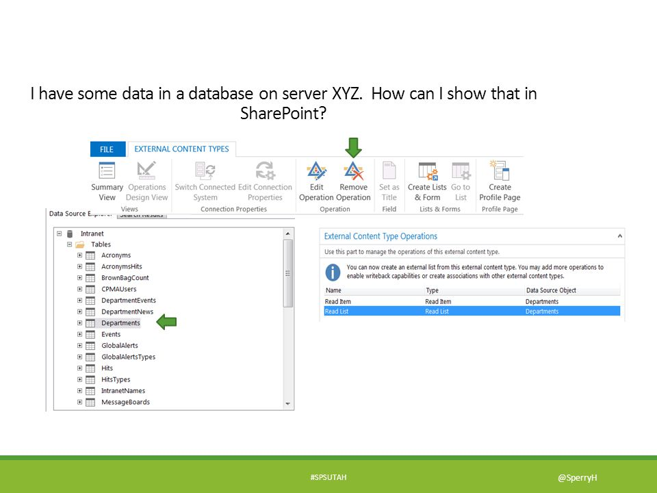 I have some data in a database on server XYZ