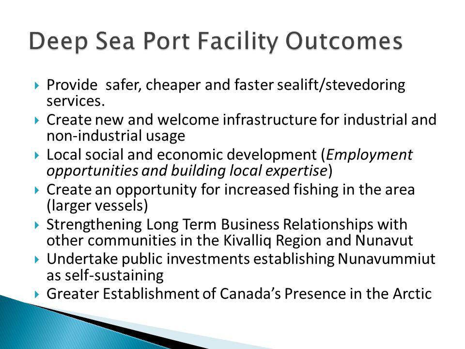 Deep Sea Port Facility Outcomes