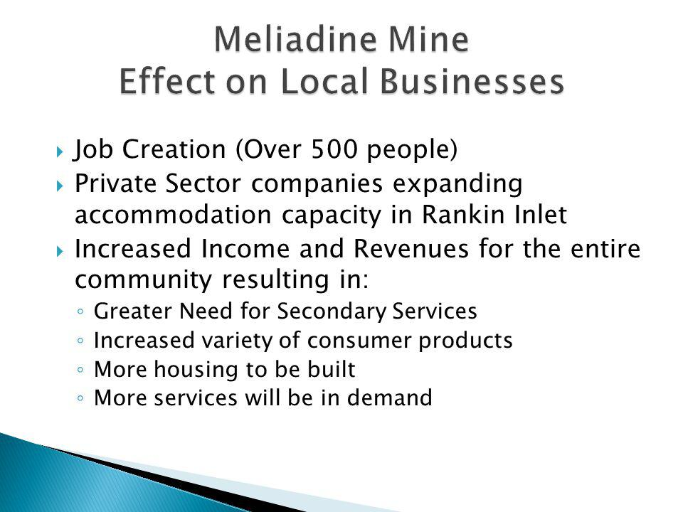 Meliadine Mine Effect on Local Businesses