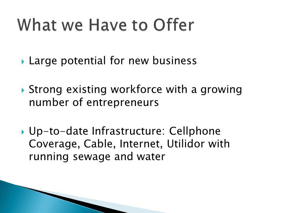 What we Have to Offer Large potential for new business
