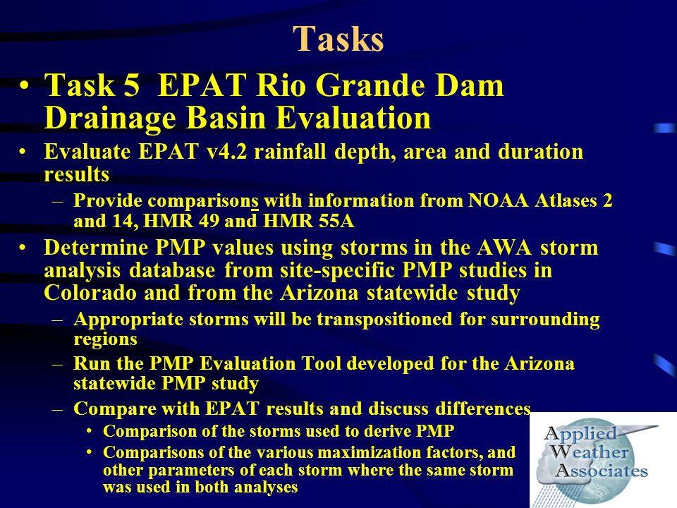 Tasks Task 5 EPAT Rio Grande Dam Drainage Basin Evaluation