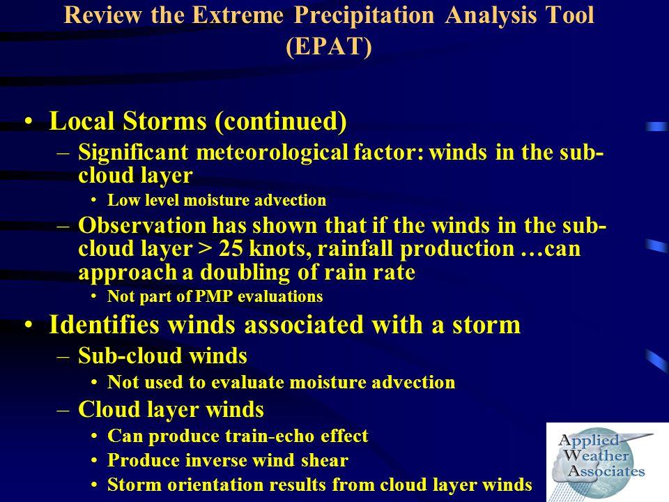Review the Extreme Precipitation Analysis Tool (EPAT)