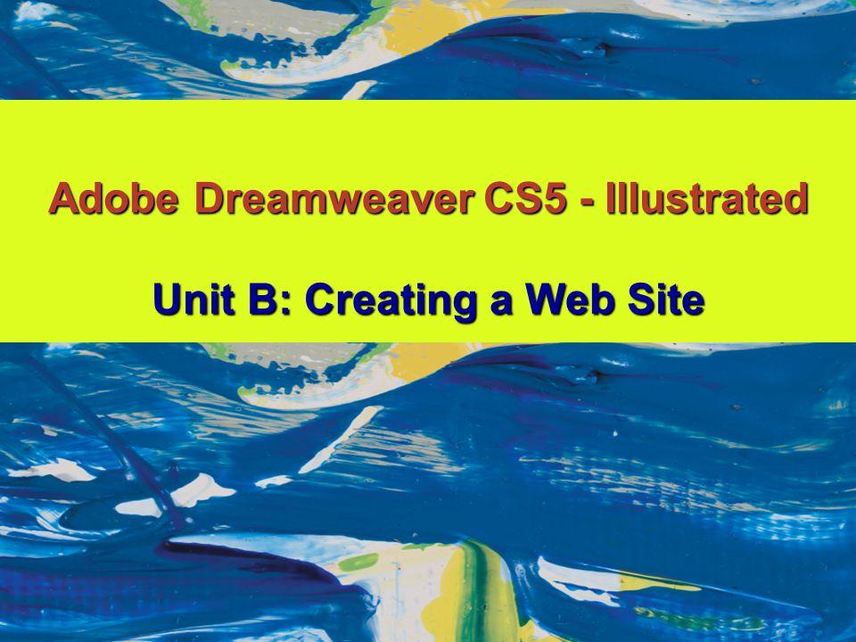 Adobe Dreamweaver CS5 - Illustrated