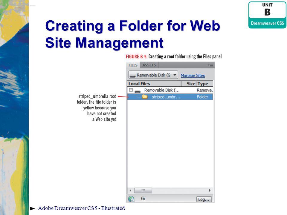 Creating a Folder for Web Site Management