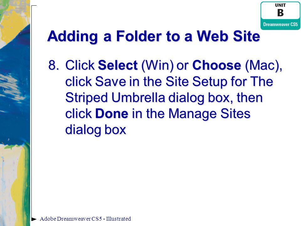 Adding a Folder to a Web Site