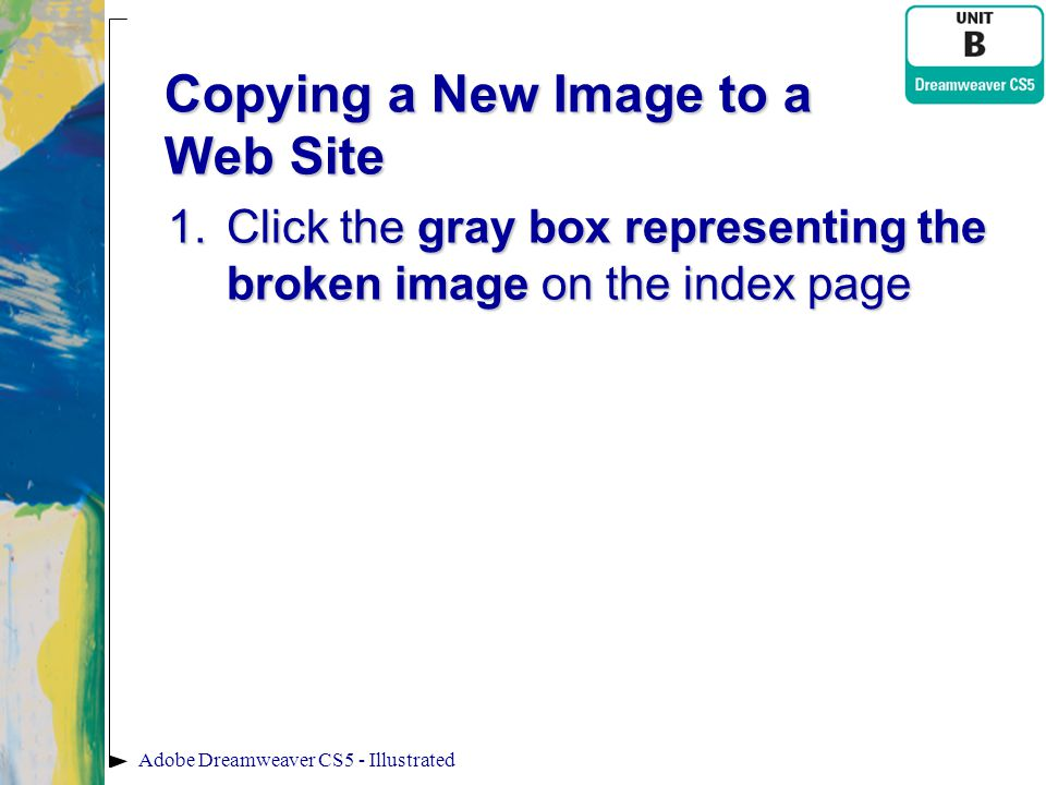 Copying a New Image to a Web Site
