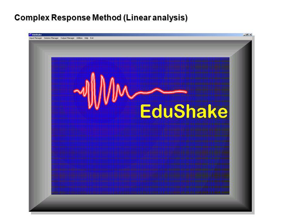 Complex Response Method (Linear analysis)