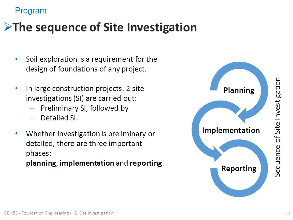 CE 483 - Foundation Engineering - 2. Site Investigation