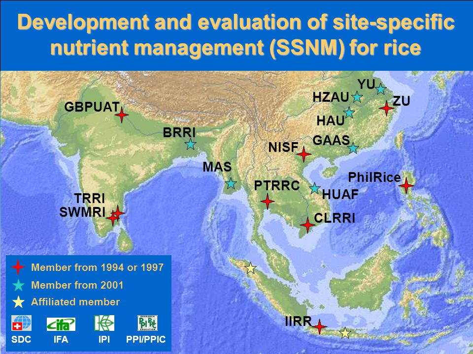 Development and evaluation of site-specific nutrient management (SSNM) for rice