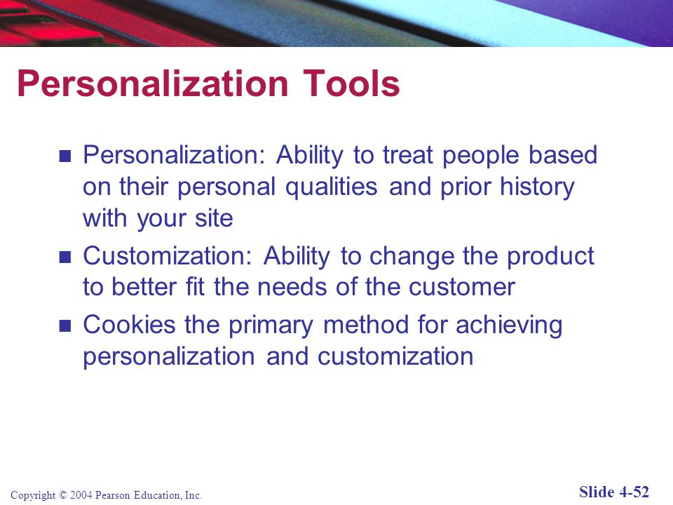 Personalization Tools