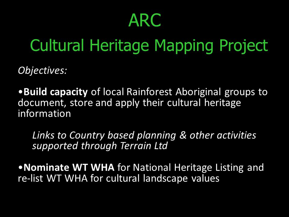 Cultural Heritage Mapping Project