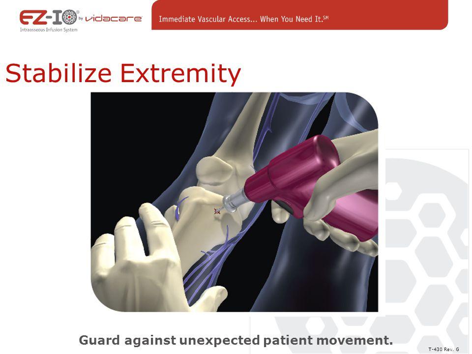 Guard against unexpected patient movement.