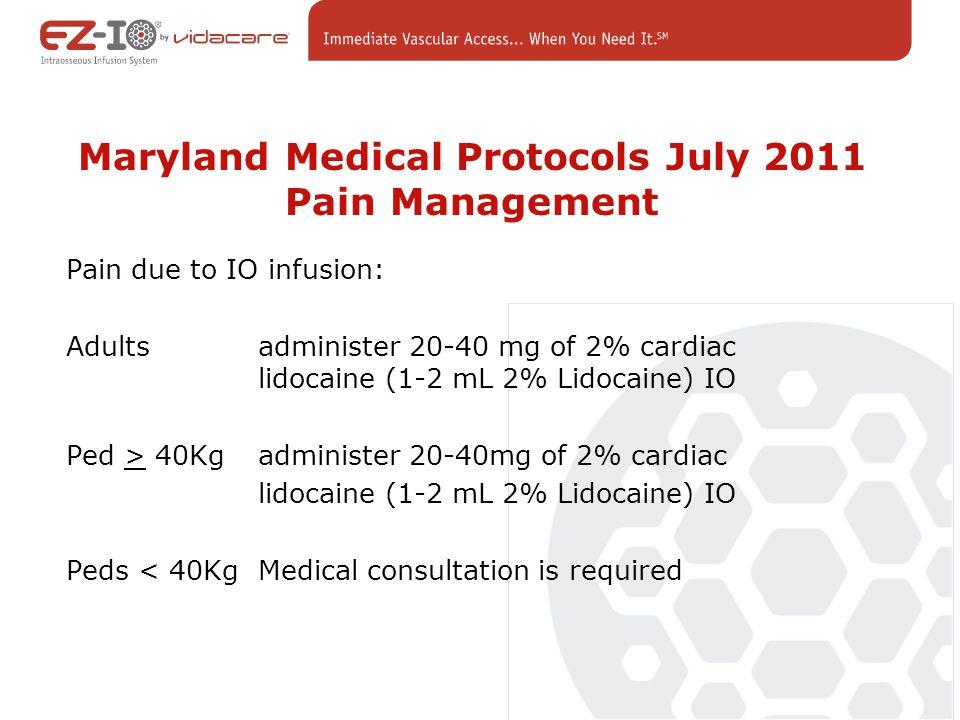 Maryland Medical Protocols July 2011 Pain Management