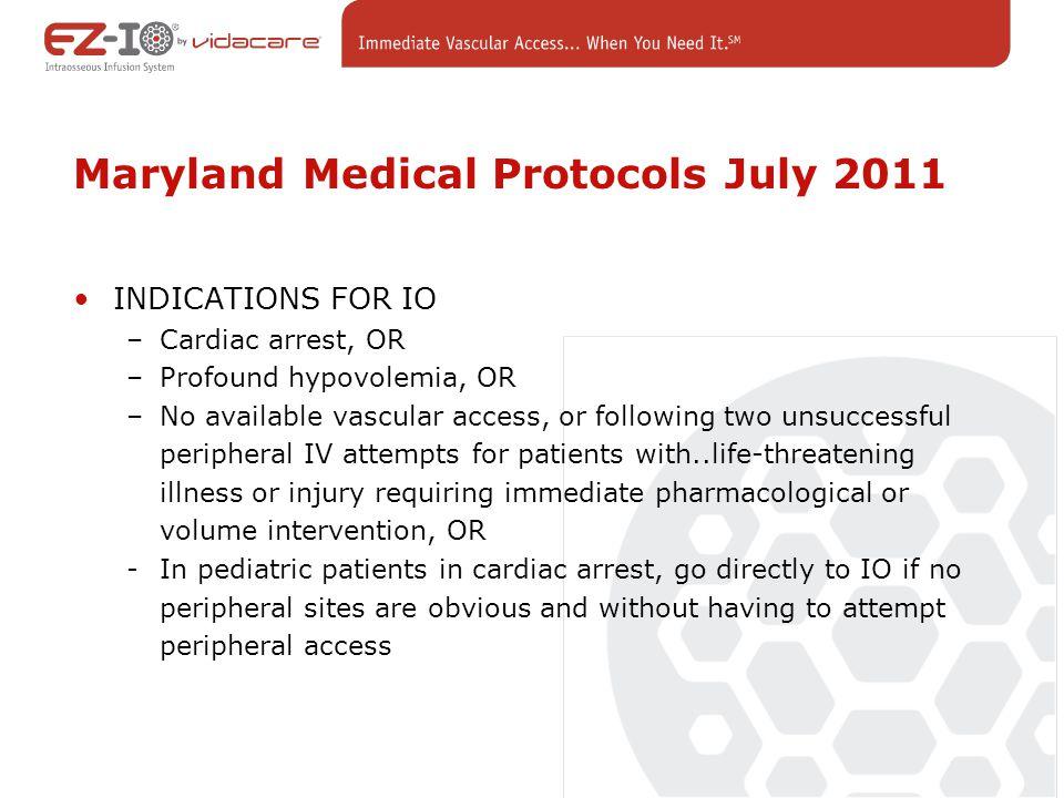 Maryland Medical Protocols July 2011