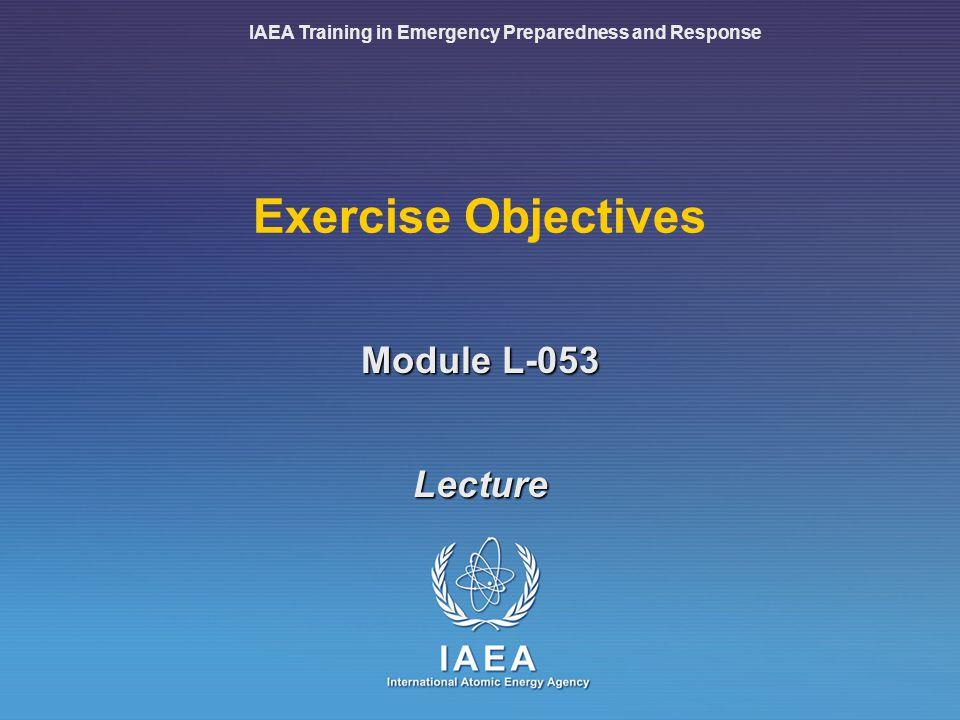 IAEA Training in Emergency Preparedness and Response