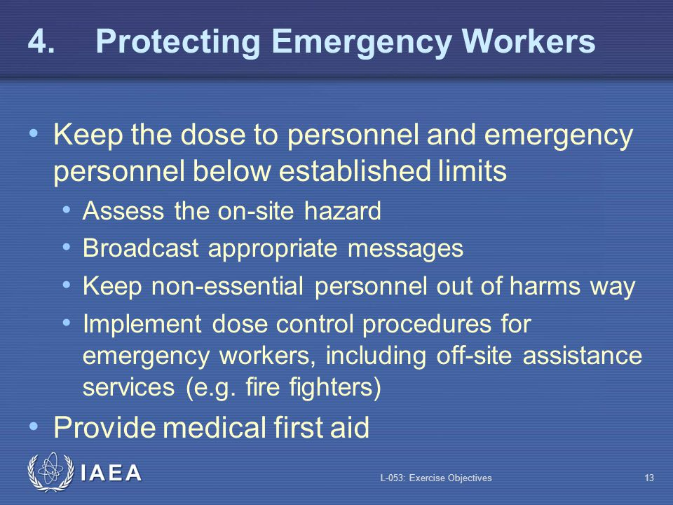4. Protecting Emergency Workers