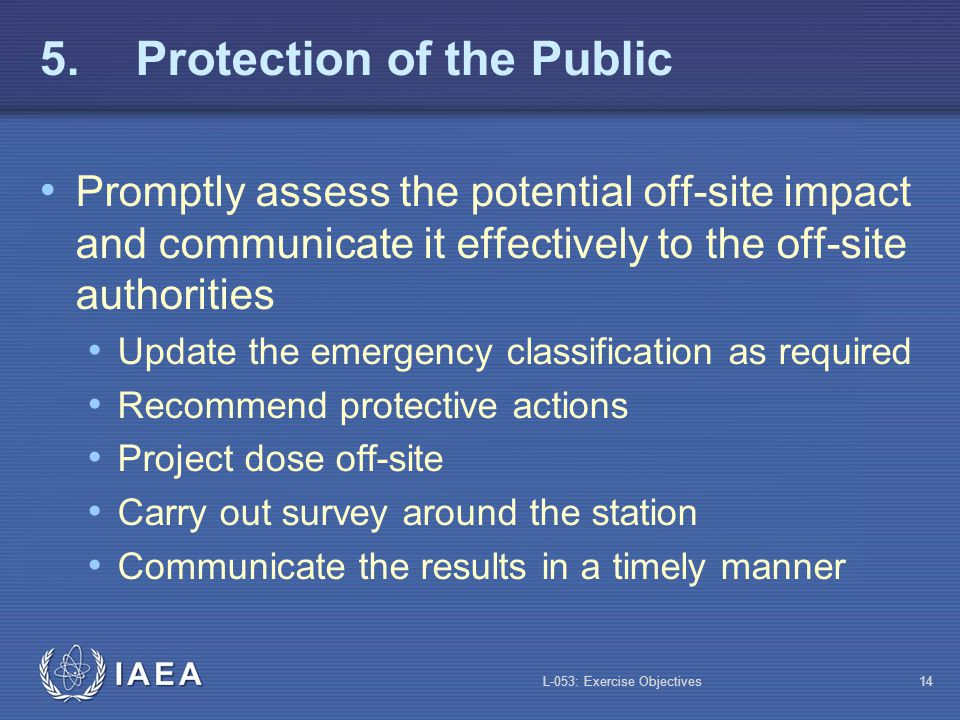 5. Protection of the Public