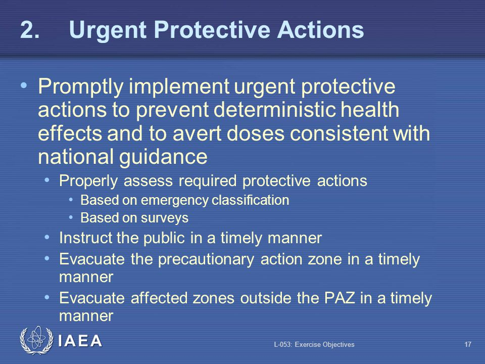 2. Urgent Protective Actions