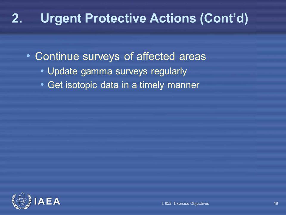 2. Urgent Protective Actions (Cont'd)