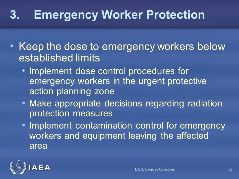 3. Emergency Worker Protection