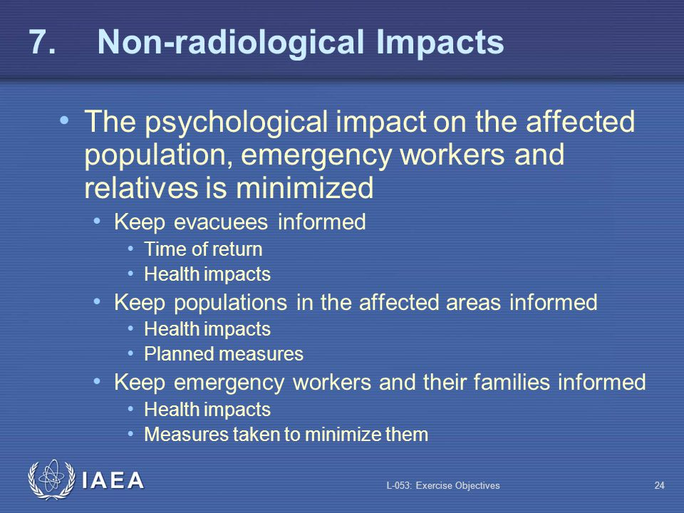 7. Non-radiological Impacts