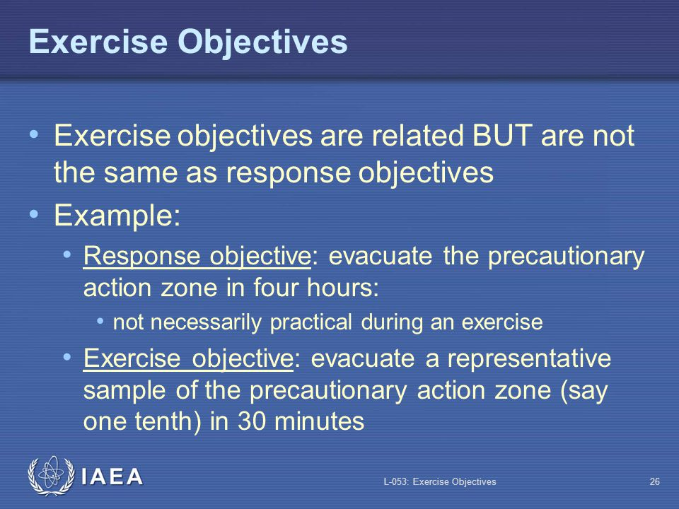 L-053: Exercise Objectives